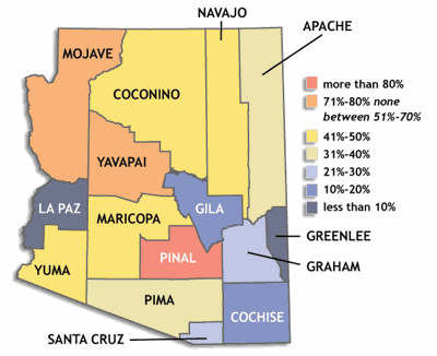 Hispanic census map