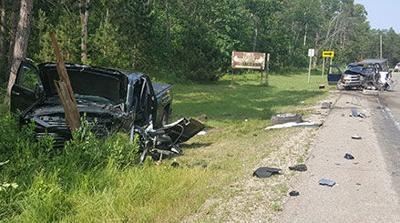 Two airlifted to hospital following head on crash | Crime