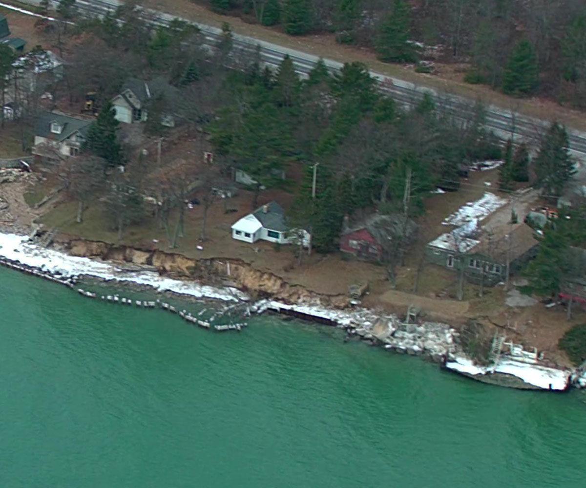 County Could Declare Emergency Due To Shoreline Erosion News Iosconews Com