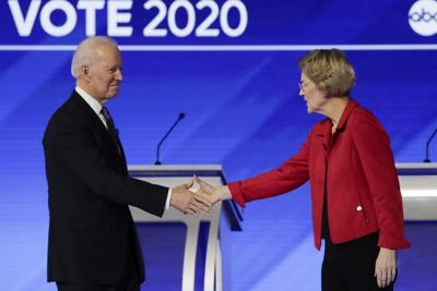 Election 2020 Warren Biden