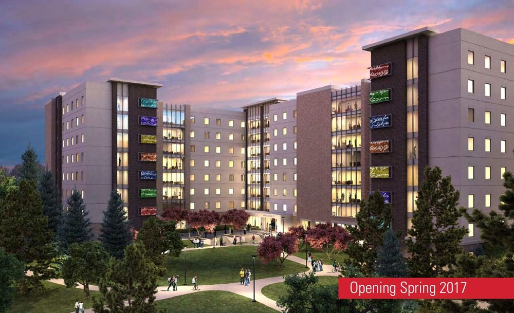 New residence hall rendering