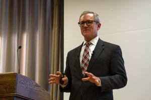 Presidential candidate Whittaker talked undergraduate learning, a renewable future and diversity