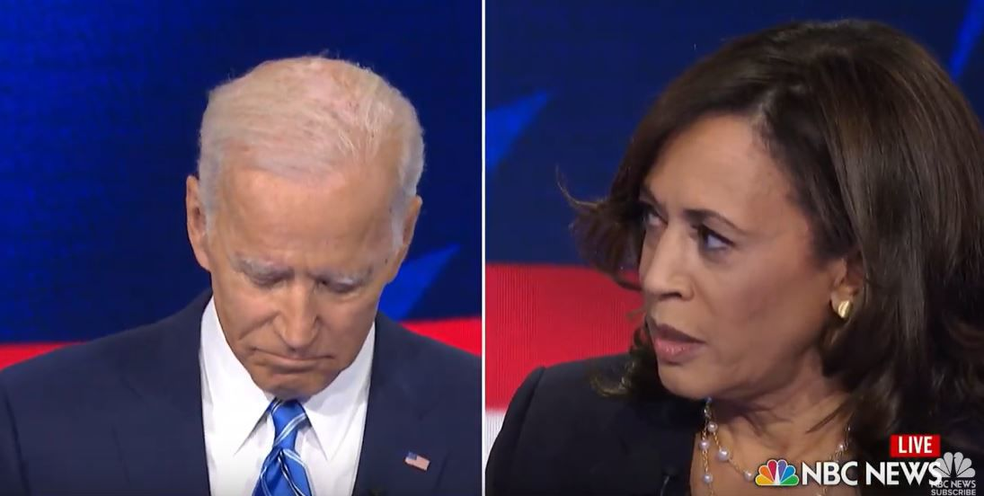 Harris Biden split screen