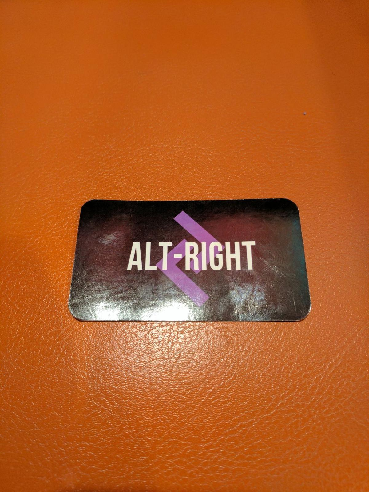 Alt-Right Card Found in Library 1