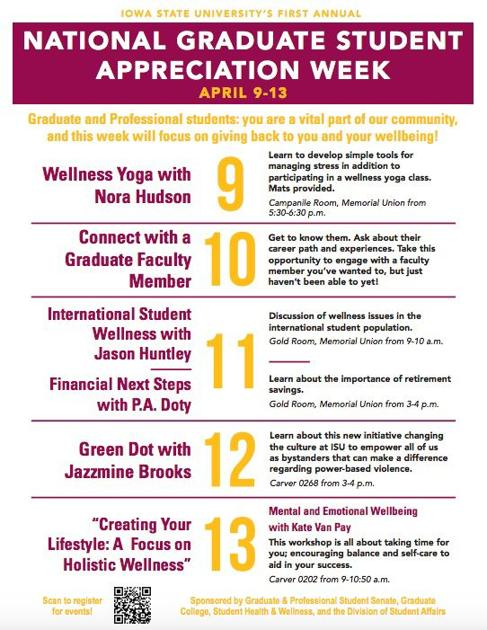Emotional Well Being Of College >> Gpss Set To Hold Graduate Health And Wellness Week Student Life