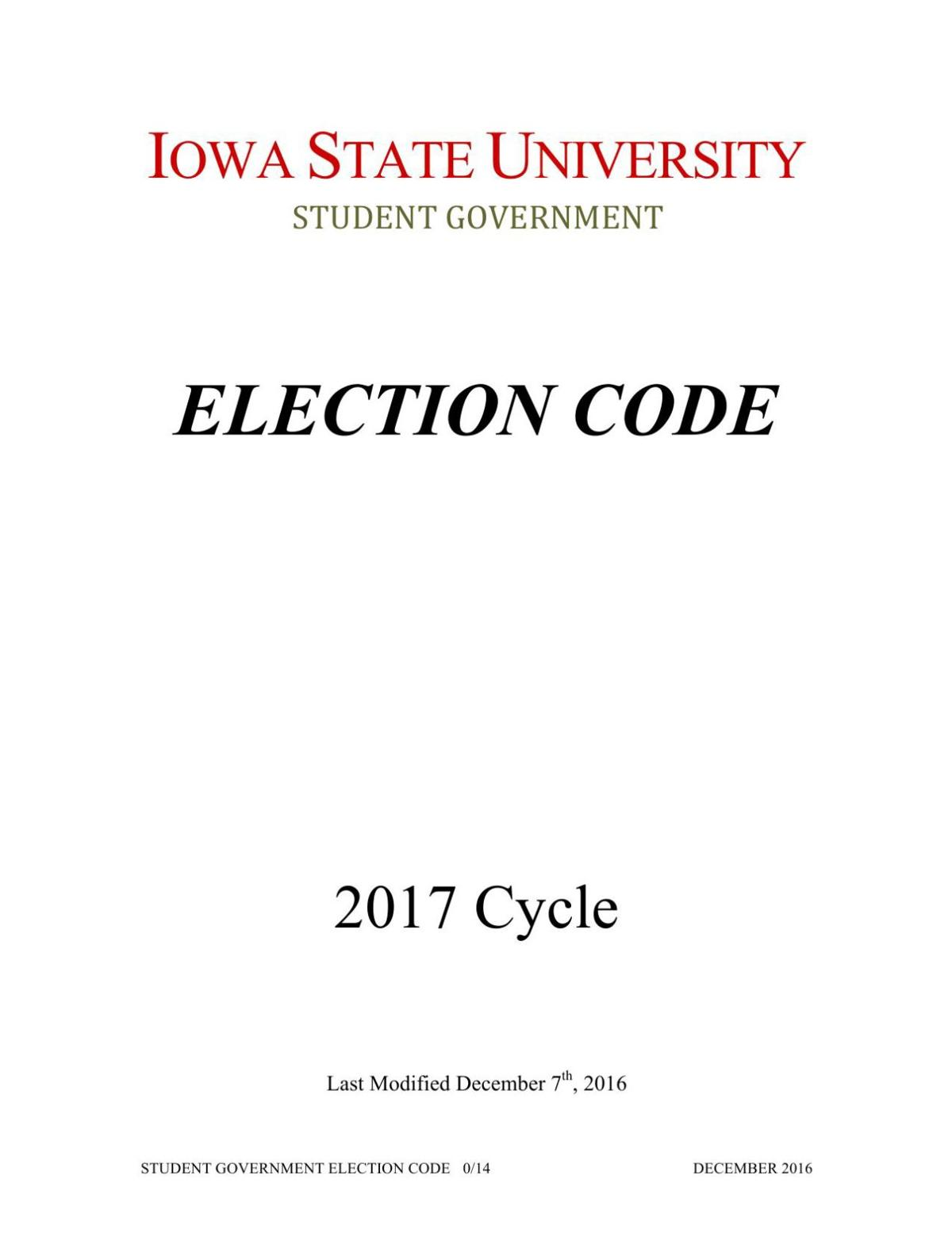 2017 Election Code