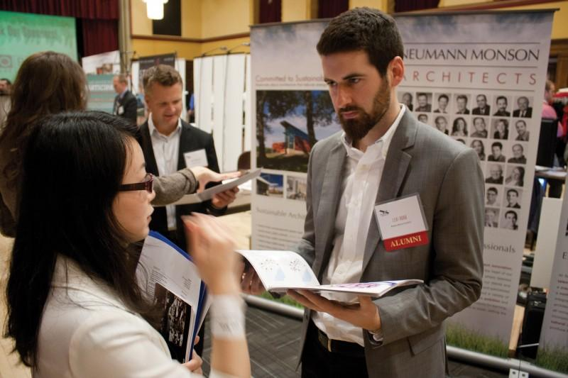 Students explore potential networking and career opportunities at design career fair