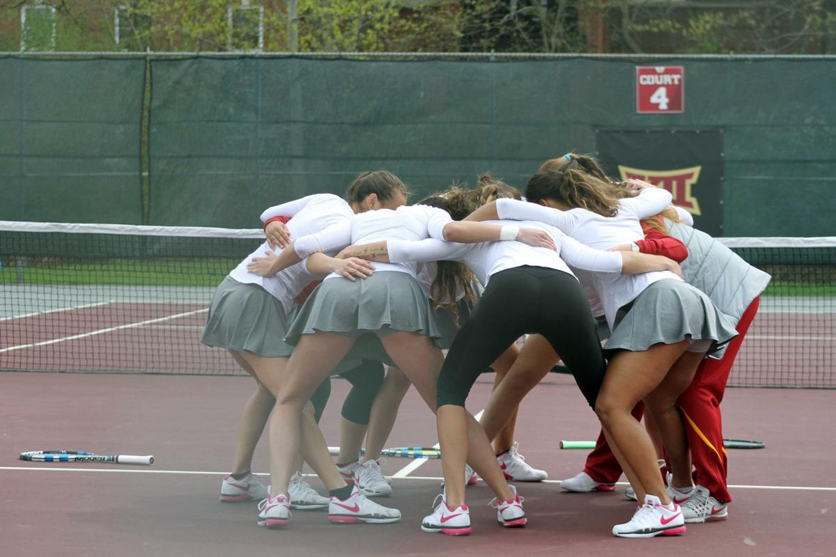 Iowa state tennis finishes gopher invitational hot during doubles play
