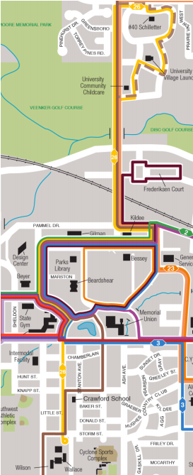 Proposed CyRide Gold route