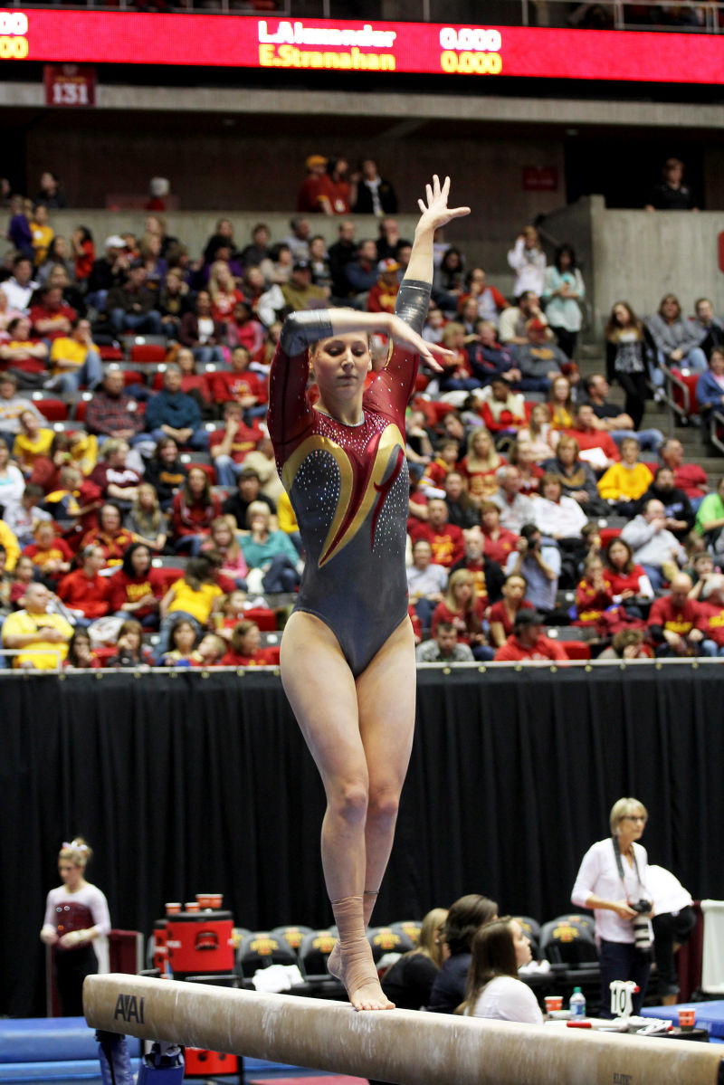 iowa state track and field meet results gymnastics