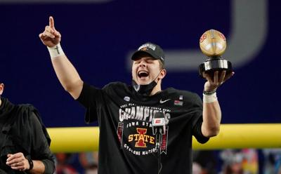 Brock Purdy Fiesta Bowl MVP celebration