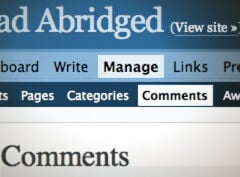 Comments Header