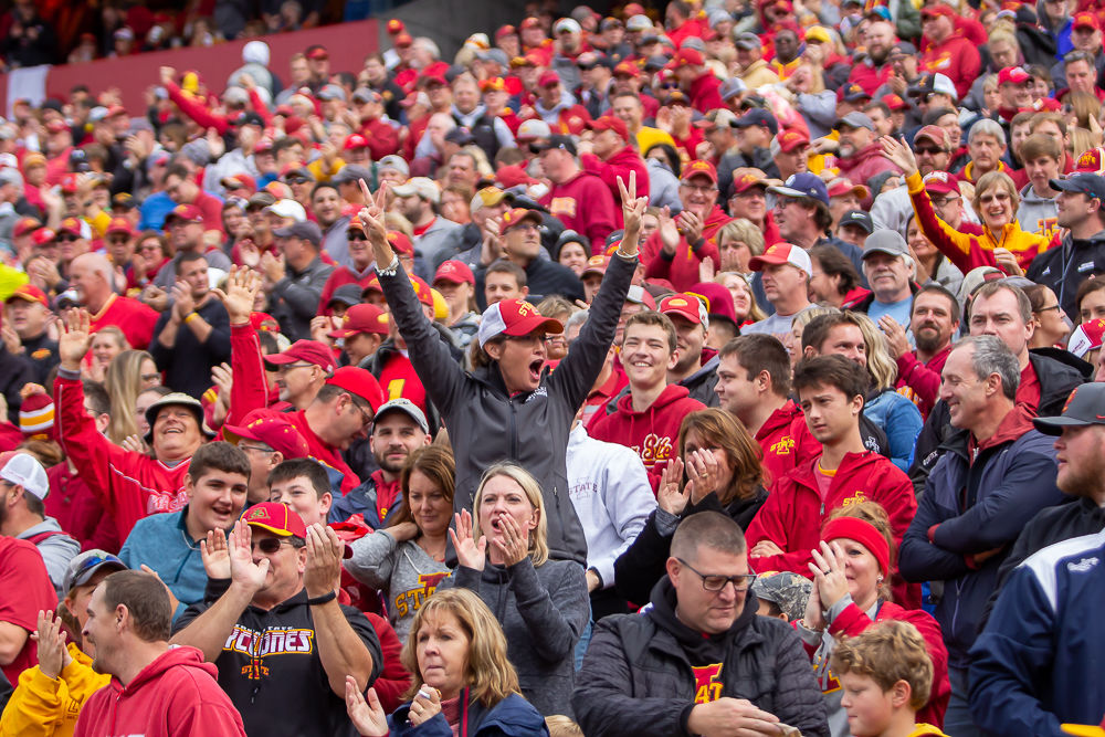 Fans in the stands ISU vs TCU 2019