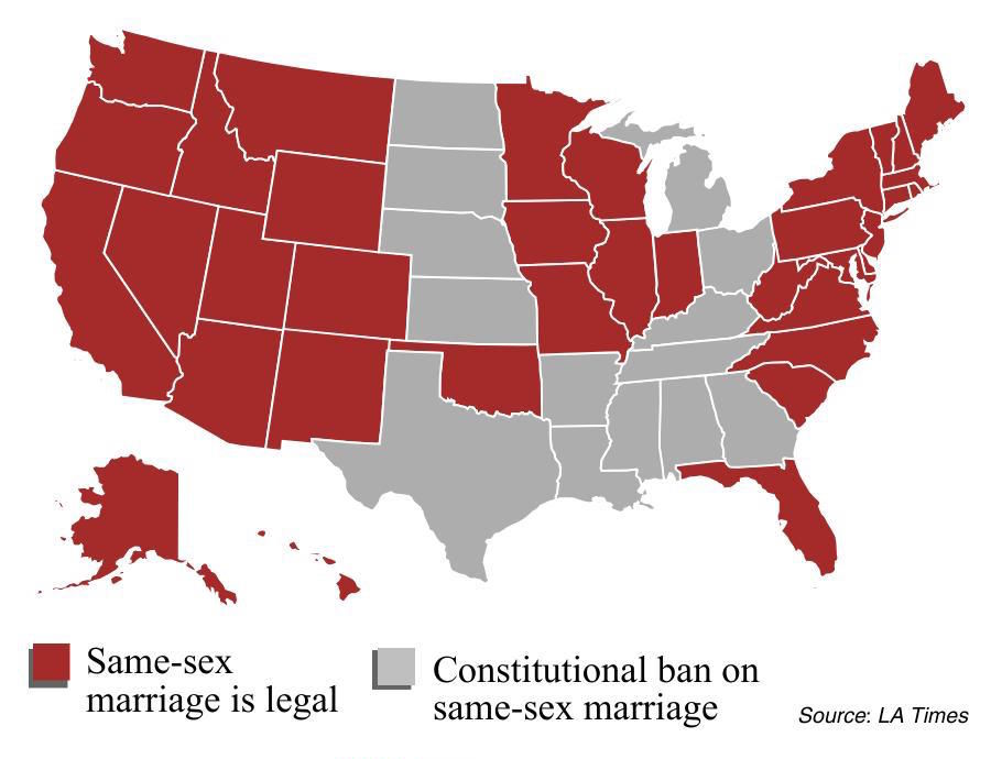 Supreme Court To Hear Samesex Marriage Case In April Politics - Us gay marriage map