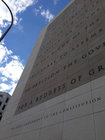 First Amendment on the facade of the Newseum in Washington, D.C. (copy)