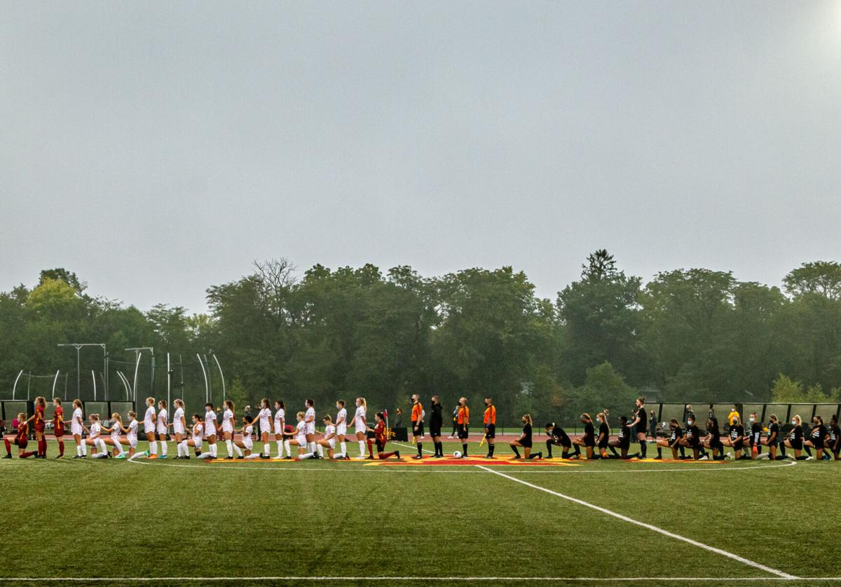 Iowa State soccer anthem kneeling 9/11/20