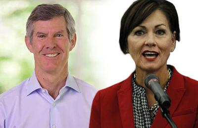 Kim Reynolds and Fred Hubbell