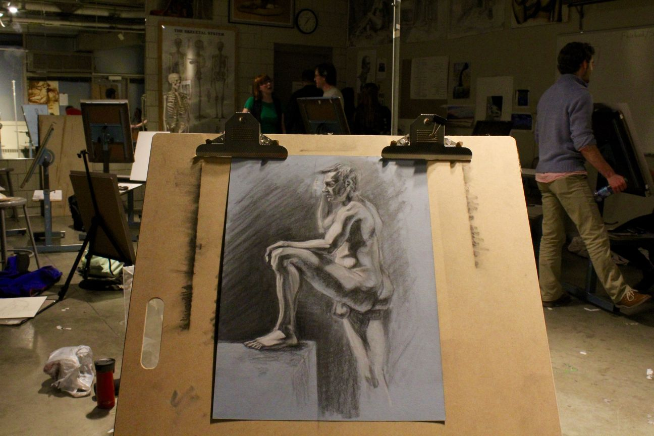 Drawing a nude model picture 346