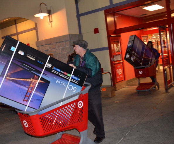 "Leaving Target with 50"" TVs on Thanksgiving"