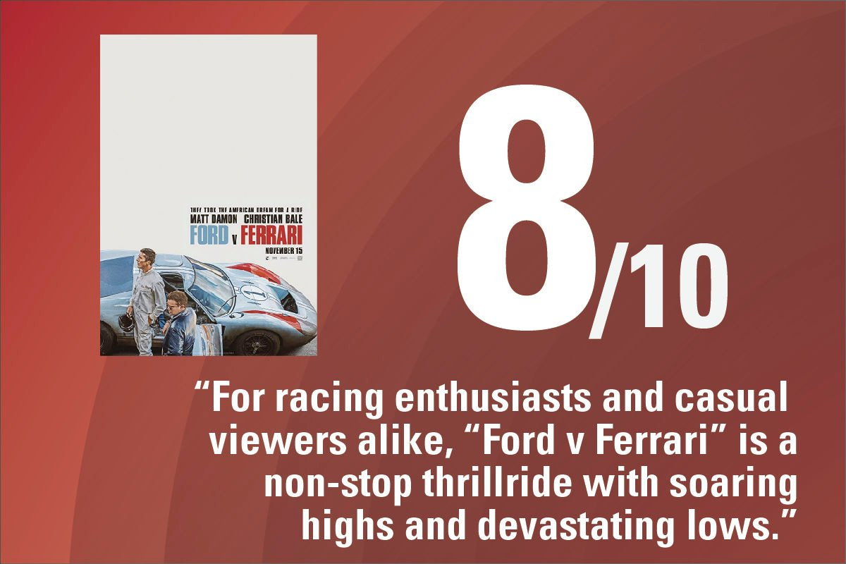 Ford V Ferrari Is Bliss For Racing Fans And Casual Viewers Alike Limelight Iowastatedaily Com