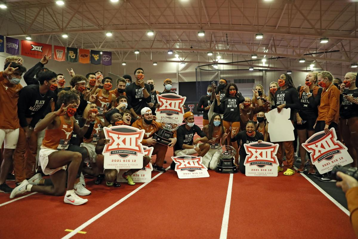 Texas Big 12 Indoor Track and Field title 2021