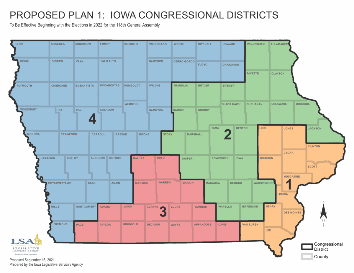 Congressional 2021 redistricting map