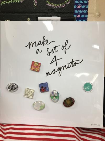 craft of the month 4 glass magnets