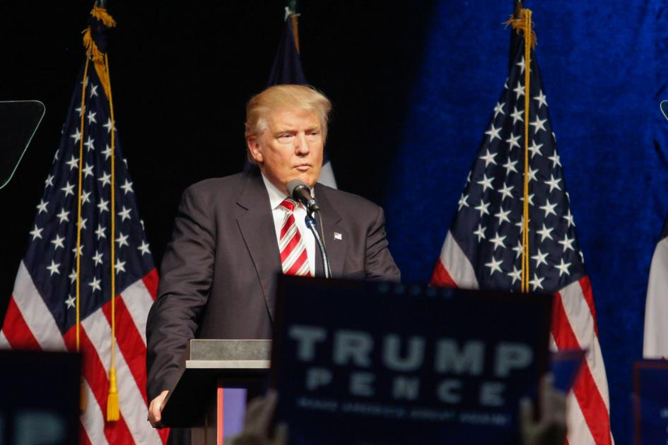 Trump pushes policy, voting registration while rallying voters in Clive