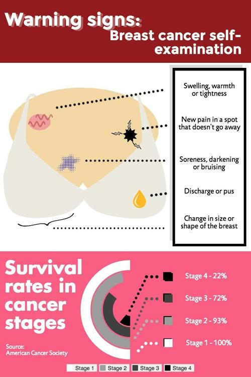 Infographic Warning Signs Of Breast Cancer Multimedia