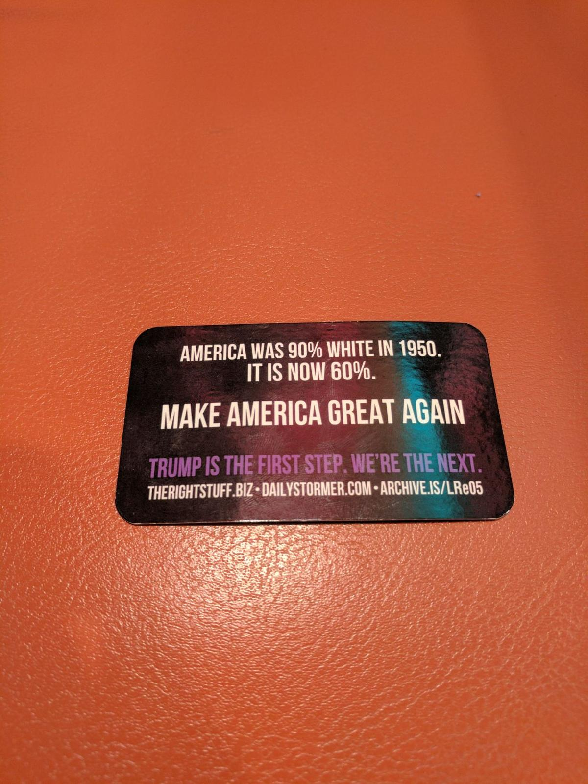 Alt-Right card found in library