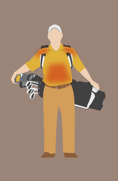 Golf bag graphic