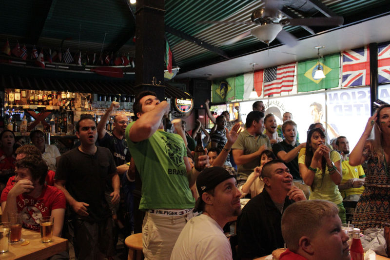 Cafe Beaudelaire World Cup viewing Party- Brazil v. Chile 20140628 Iowa State Daily0044.jpg