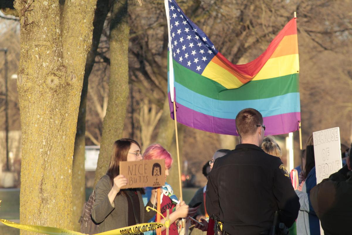 Westboro CounterProtesters (Ames High)
