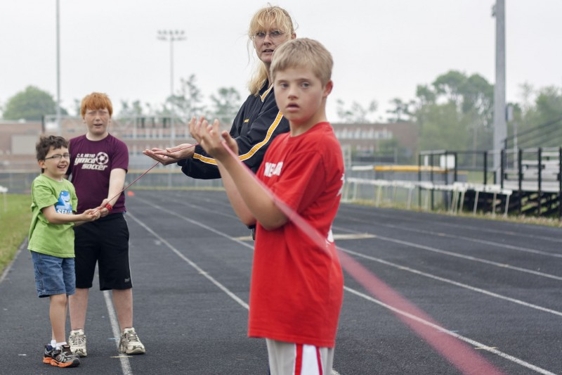 Special Olympics practice - Lending a hand