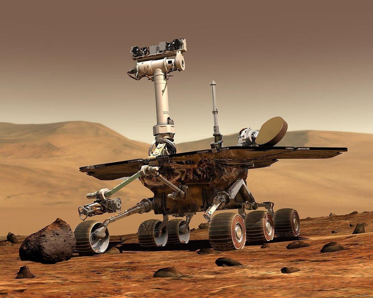 """Opportunity """"Oppy"""" during its 14 1/2 year mission"""