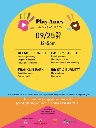 Ames Play flyer