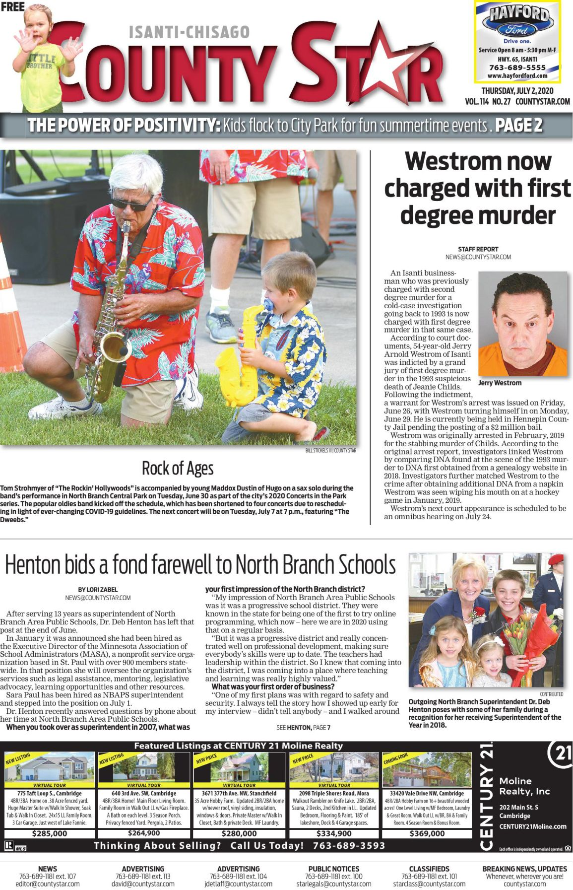 Isanti-Chisago County Star July 2, 2020 e-edition