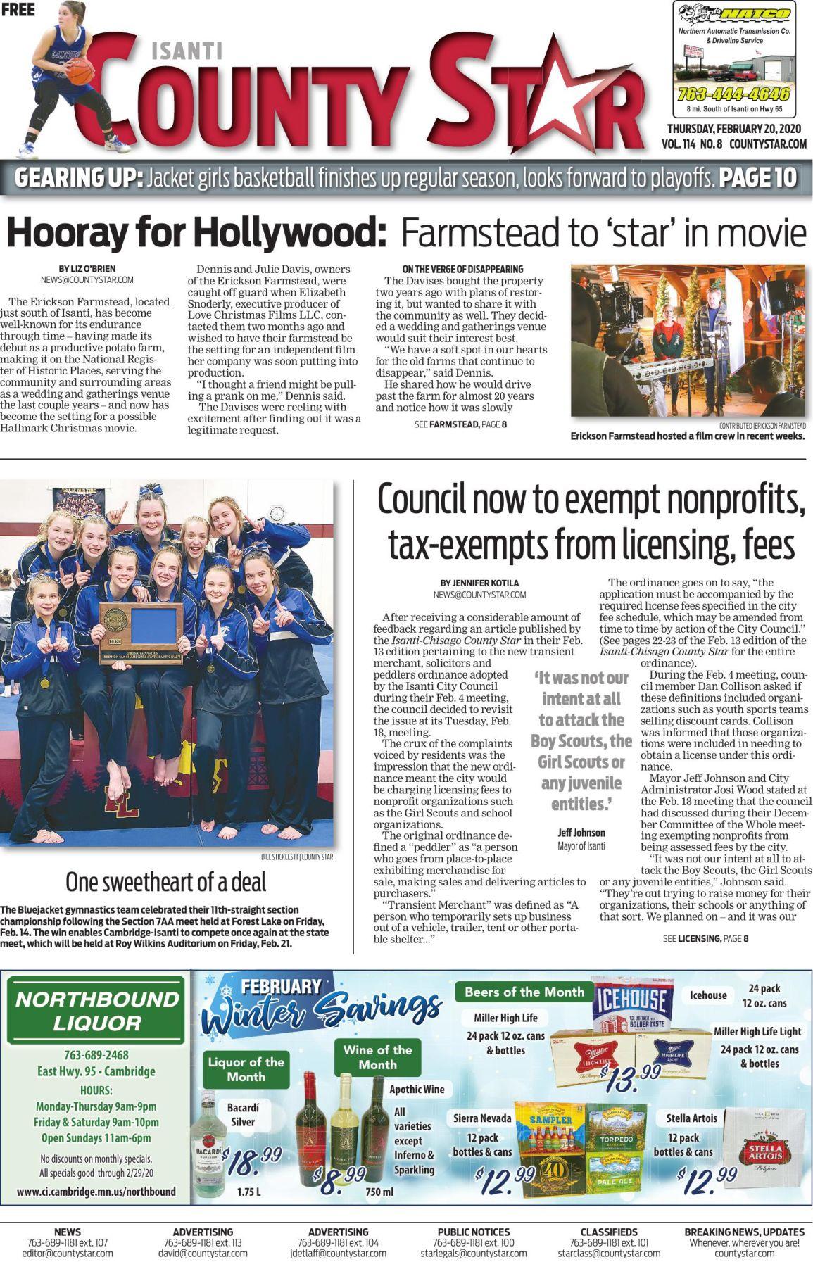 Isanti County Star February 20, 2020 e-edition