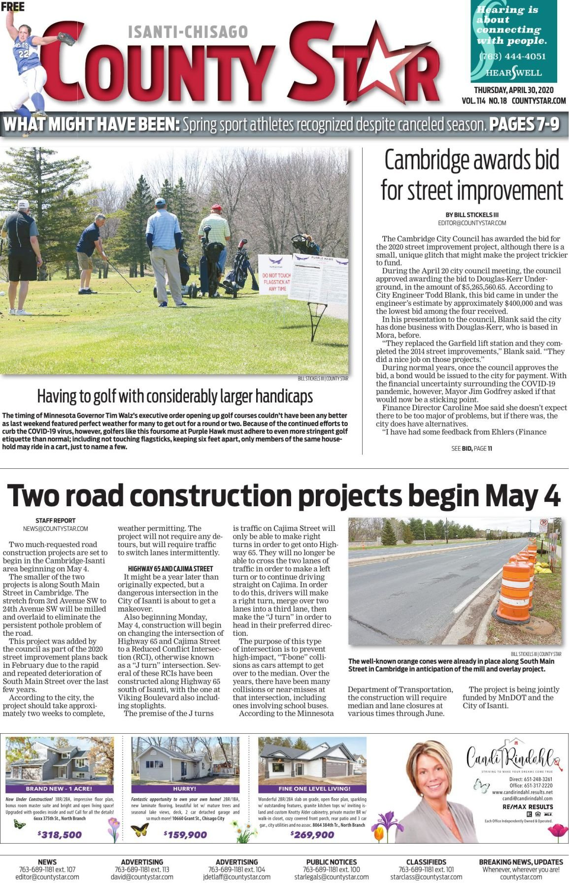 Isanti-Chisago County Star April 30, 2020 e-edition