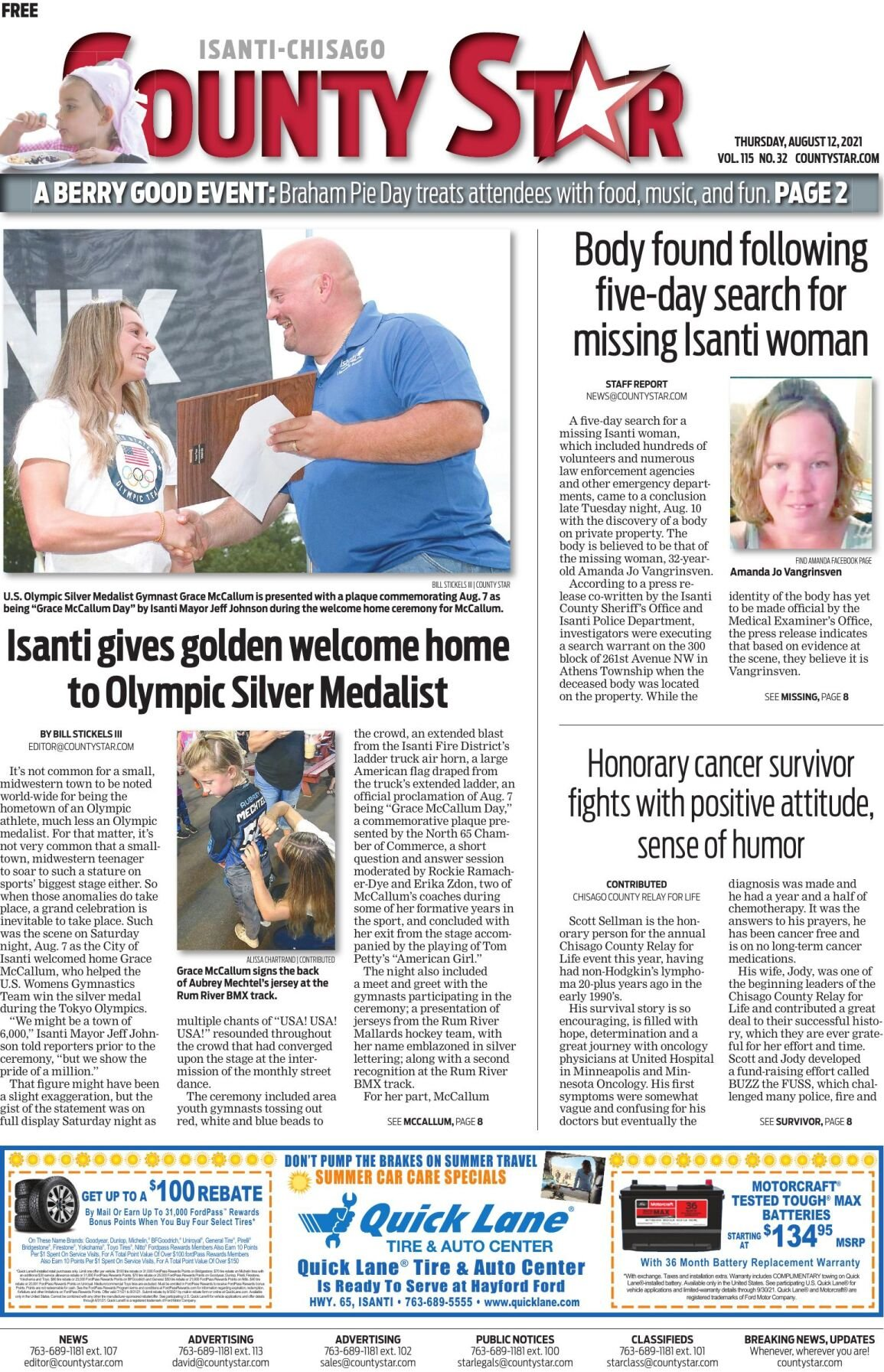 Isanti-Chisago County Star August 12, 2021 e-edition