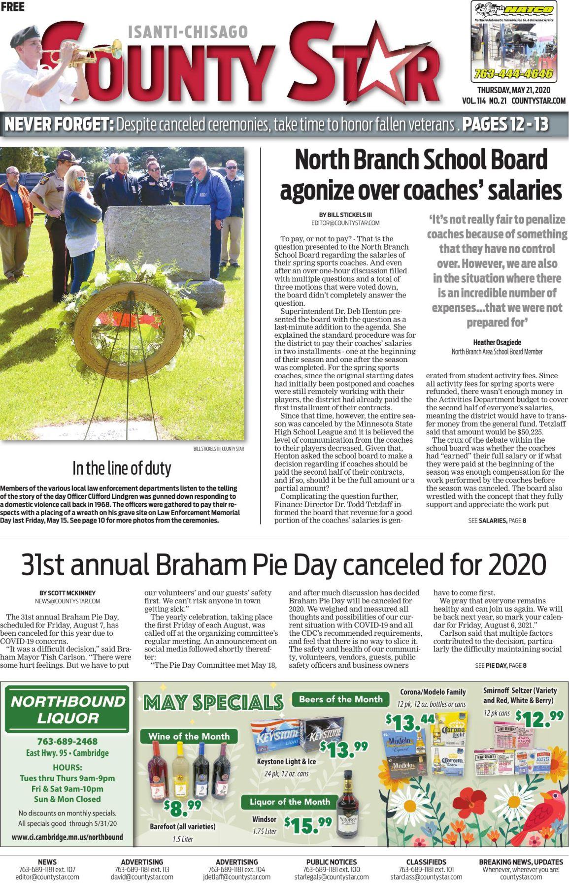 Isanti-Chisago County Star May 21, 2020 e-edition