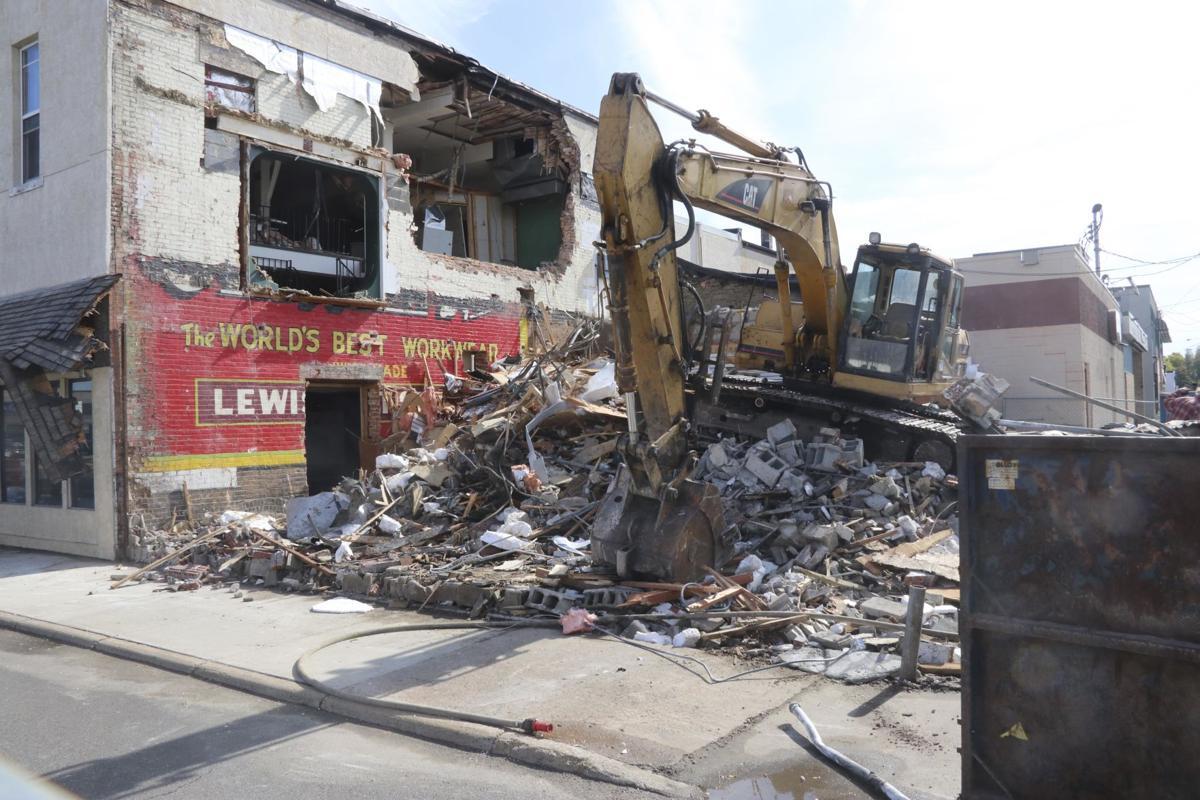 Demolition reveals a look into building's history