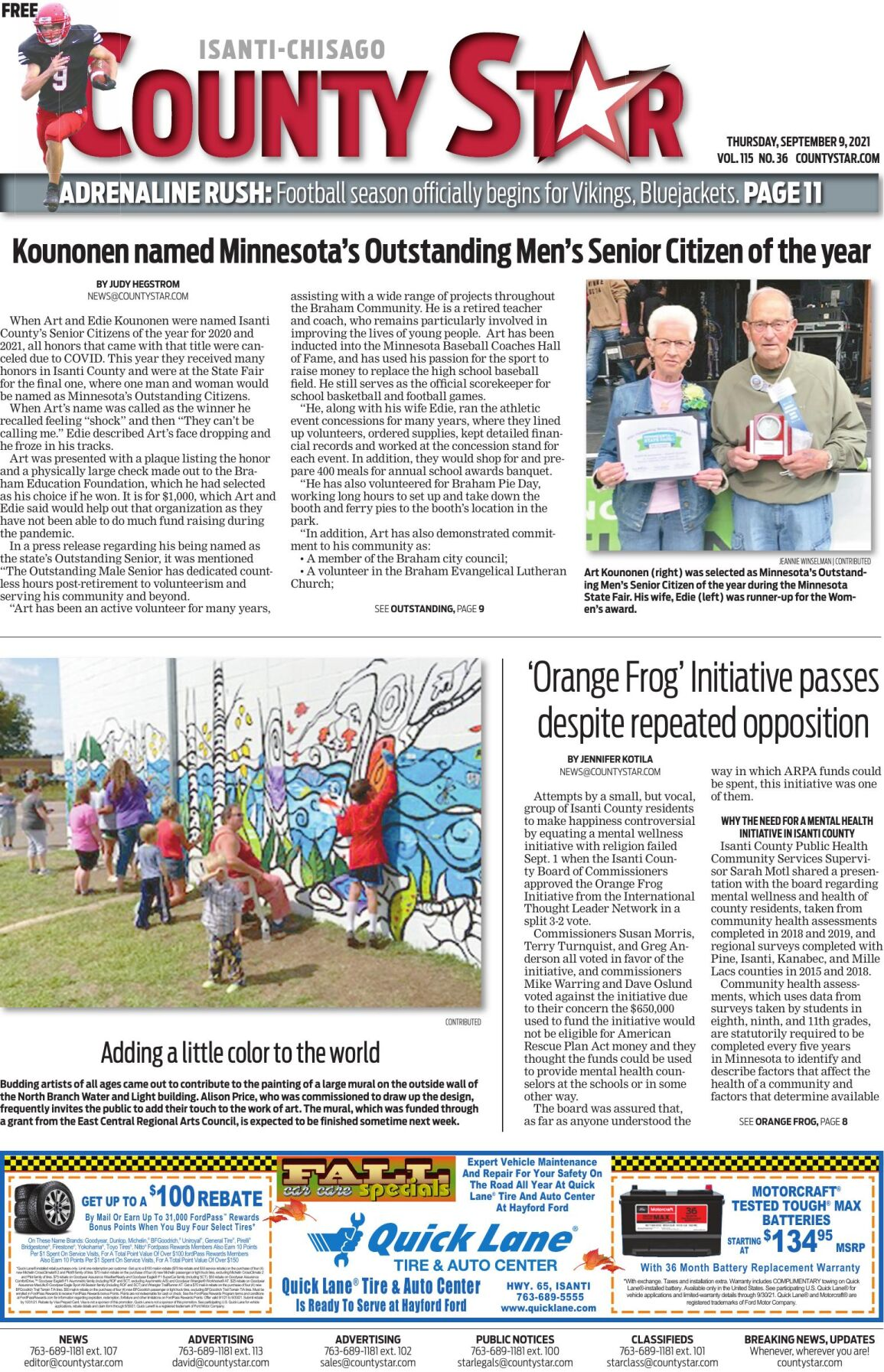 Isanti-Chisago County Star September 9, 2021 e-edition