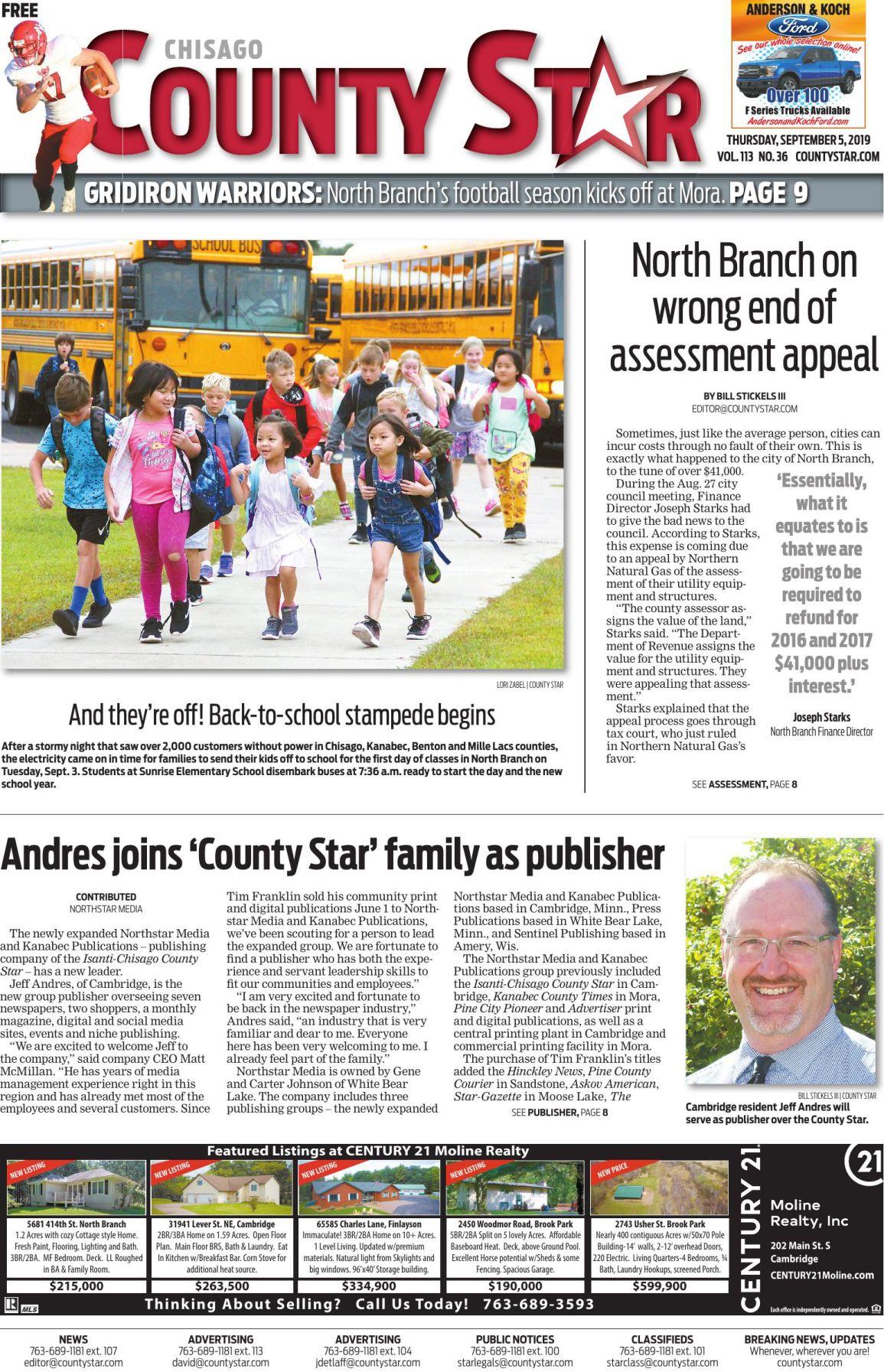 Chisago County Star e-edition September 5, 2019
