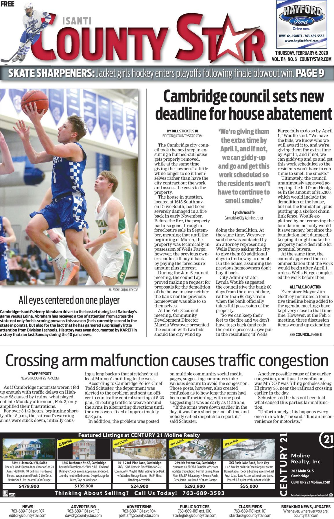 Isanti County Star February 6, 2020 e-edition