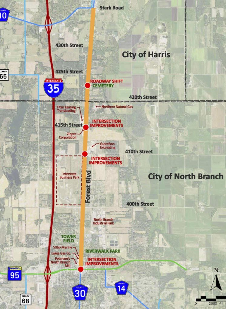 Major North Branch road construction project scheduled