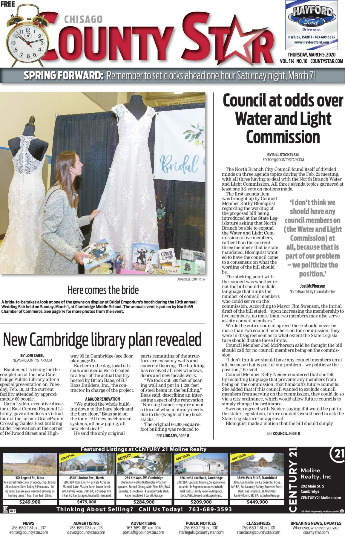 Chisago County Star March 5, 2020 e-edition