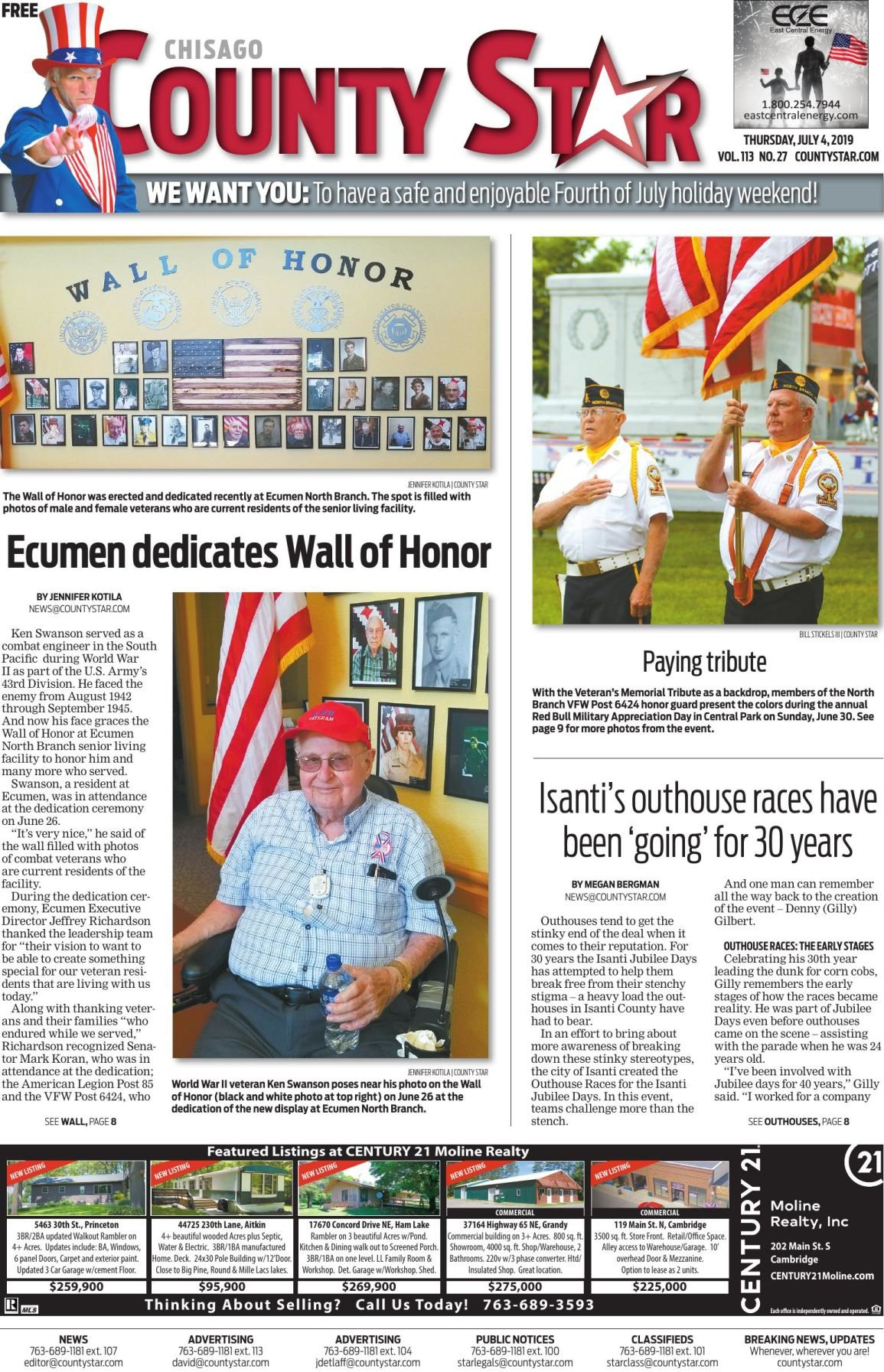 Chisago County Star e-edition July 4, 2019