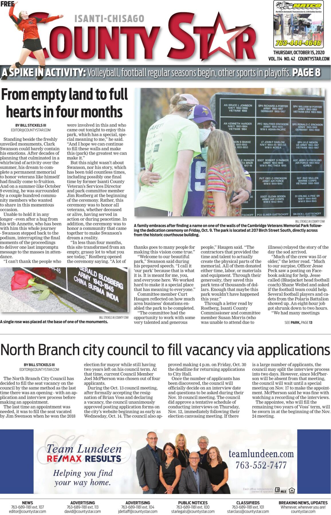 Isanti-Chisago County Star October 15, 2020 e-edition