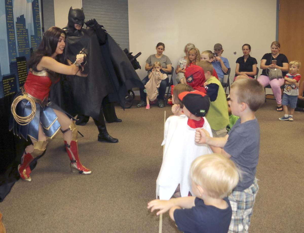 Holy bookworm, Batman! Superheroes abound at North Branch library!